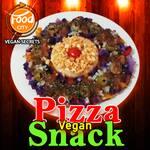 Pizza snack vegan - rainbow