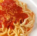 Macarrao espaguete com filé de frango