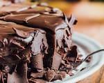 Torta de chocolate com raspas