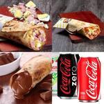 2 pizzas crek + refrigerante lata