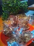 Coelho de chocolate com flocos