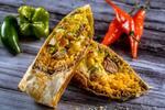 Burrito de carne + nacho  +refrigerante