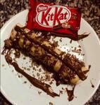 Panqueca doce Kit Kat
