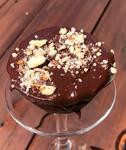 Muffin de chocolate com ganache vegana