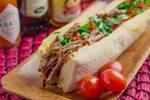 Sanduiche ciabatta carne de panela