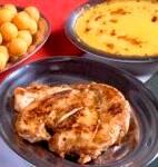 Supremo de frango com creme de milho (serve 2 pessoas)