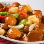 17- frango agridoce com pimentão e cebola