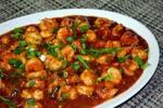 Camarão ao molho de tomate apimentado