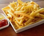 Porção de batata fritas
