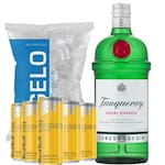 Gin Tanqueray + 6 Red Bull tropical + gelo