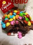 Empada de chocolate com confete