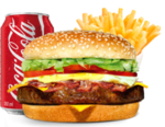X - bacon, refrigerante + batata