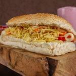 Hot dog especial prensado