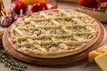 Pizza grande salgada, grande, borda requeijão + embalagem , pizza de frango requeijão
