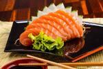 Salmão sashimi