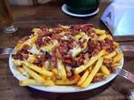 Fritas queijo e bacon