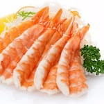 Camarão sashimi