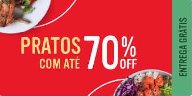 Pratos com até 70%
