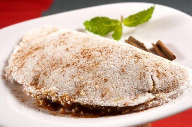 Tapioca Coco com Pasta de Amendoim