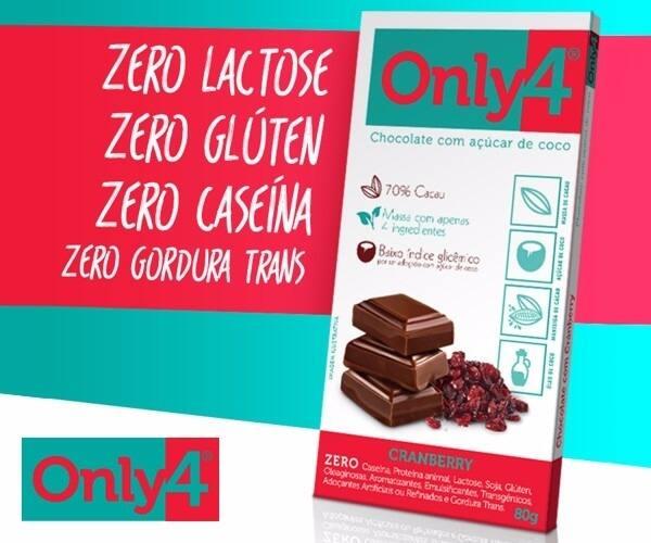 Only4 Chocolate com Açucar de Coco 80g