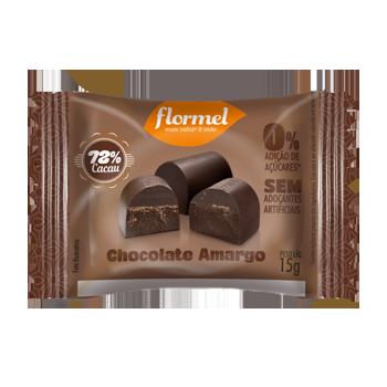 Flormel Chocolate Amargo 0% Açucar 72% Cacau