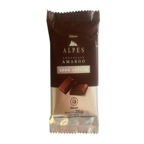 Chocolate Amargo Alpes 0%Açucar