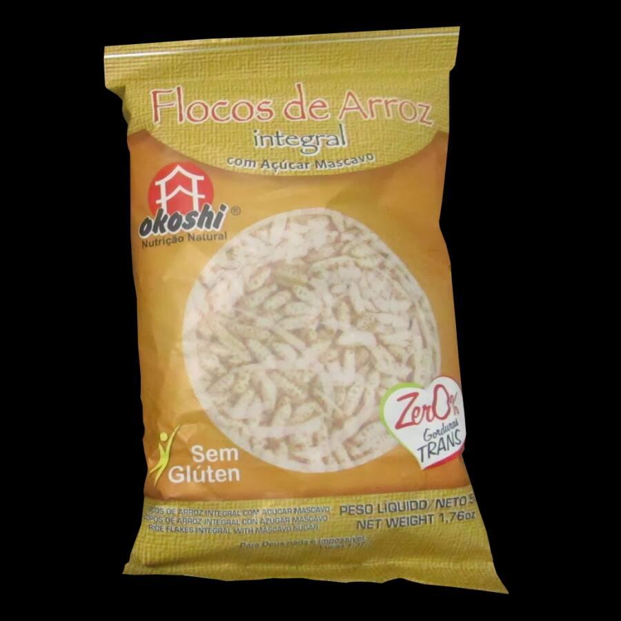 Flocos de Arroz Integral Okoshi 0%Gluten