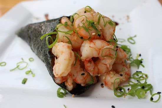 Temaki de camarão