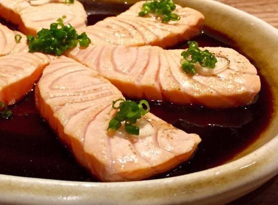 Tataki de salmão