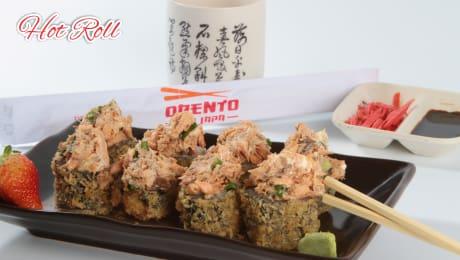 Hot roll de salmão com shimeji - 10 unidades