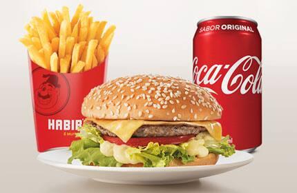 Combo Hambúrguer Cheese Salada (Batata Grande 120g + Refrigerante lata)
