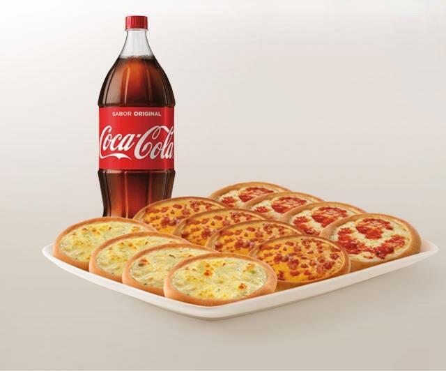 Promoção compre 10 leve 12 esfihas (Queijo, Queijo com Goiabada ou Italianinha) + Refrigerante 2l ou Suco 1l