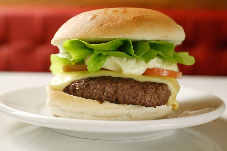 Cheese burger salada