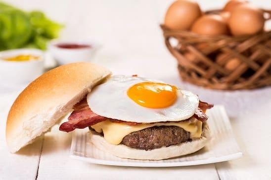 Cheese burger egg bacon