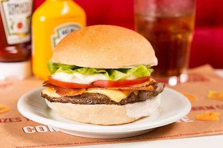 Cheese burger salada bacon