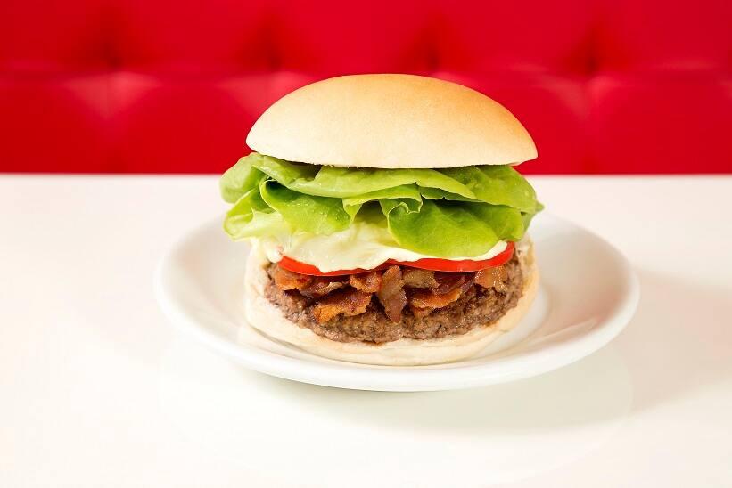 Hamburger salada bacon