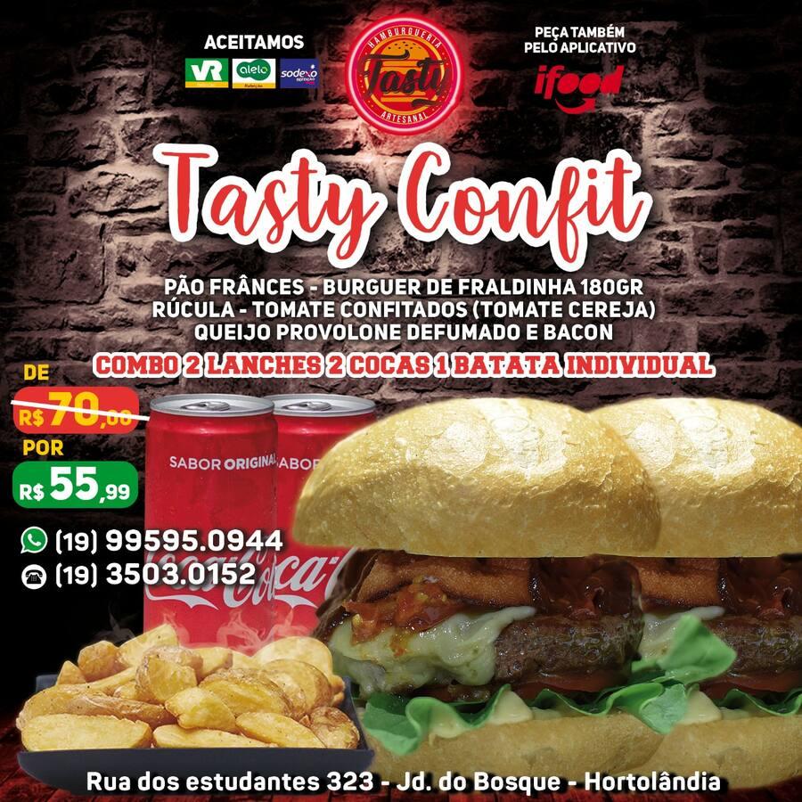 Combo Confit N°11 ( 2 Tasty Confit / 2 Cocas / 1 Batata Individual )
