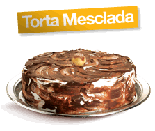 Torta Mescla - serve de 16 à 20 fatias