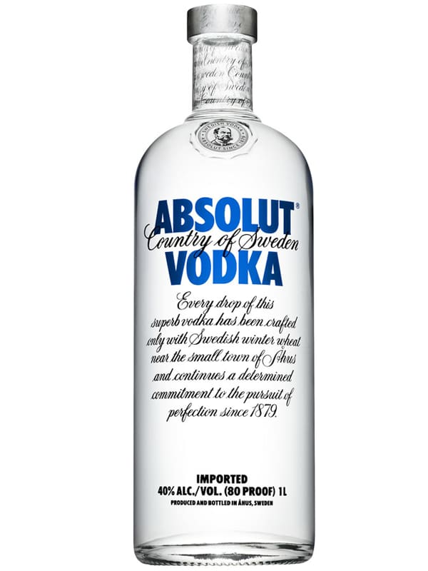 Vodka Absolut natural 1l