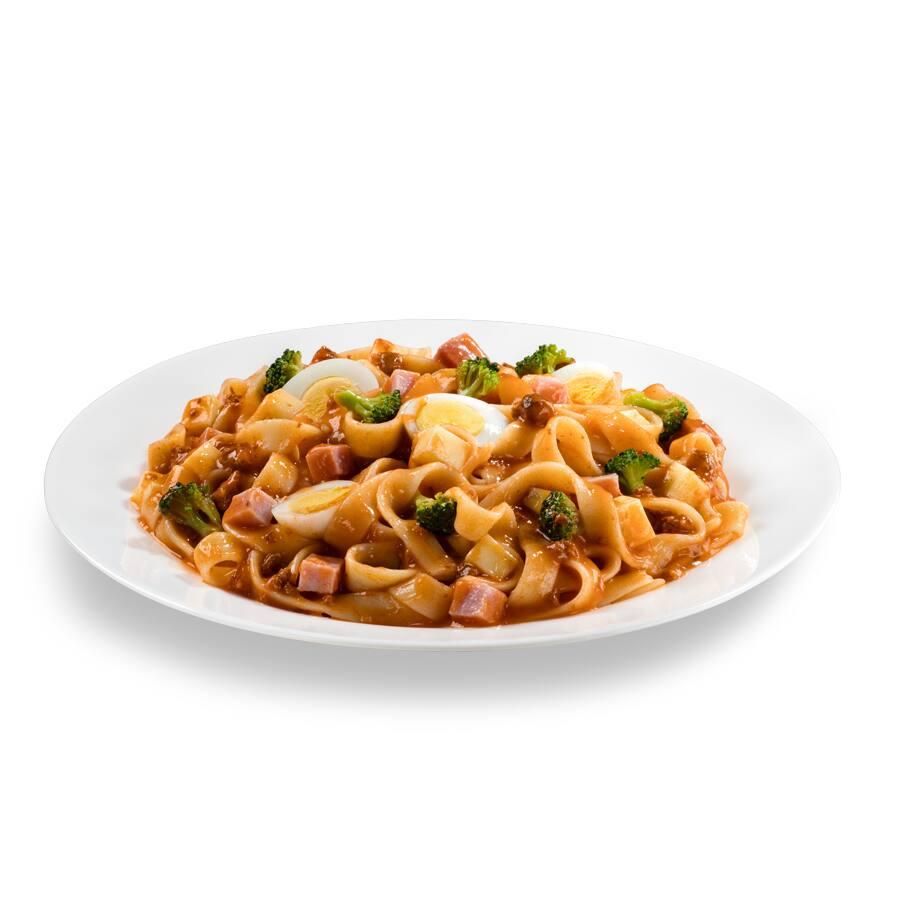 Massa italiana tamanho bambini 100g + molho + ingredientes (pouca fome / indicado para crianças)