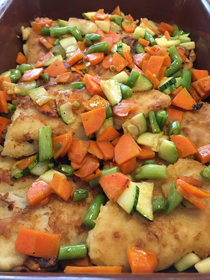Peixe grelhado com legumes (3a feira)