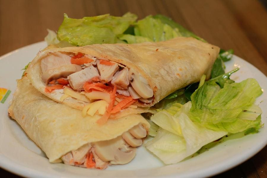 Wrap frango light