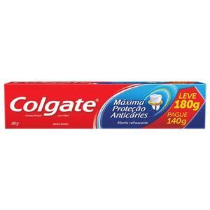 Creme Dental Colgate Máxima Proteção Anticáries Oferta 180g
