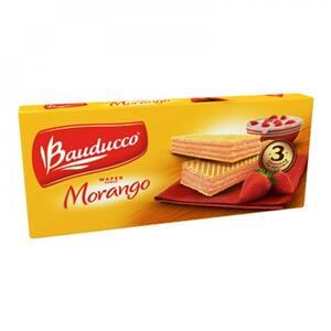 Biscoito Wafer Bauducco Morango Embalagem 78G