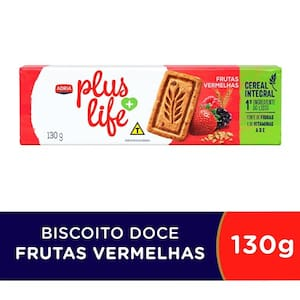 Biscoito Adria Plus Life Integral Frutas Vermelhas 130g