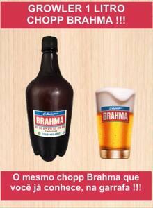 Chopp Brahma 1l | growler pet cheio