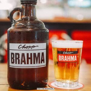 Combo Growler de vidro e caldereta Brahma