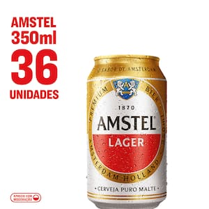 Combo Cerveja Lager Puro Malte Amstel Lata 350ml
