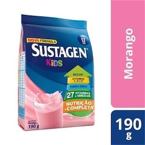 Complemento Alimentar Sustagen Kids Morango 190g