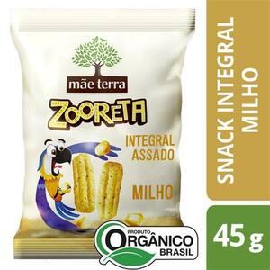 Snack Integral Assado Mãe Terra Zooreta Milho Orgânico 45g